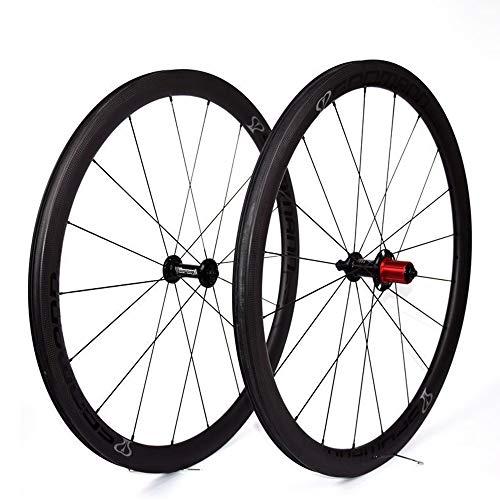 HYHD 700C Fahrrad Felgen Carbon Rennrad Laufradsatz in Fahrrad Laufrad Drahtreifen Für Shimano Oder Sram 8/9/10/11 Speed - Fahrrad Carbon-felgen