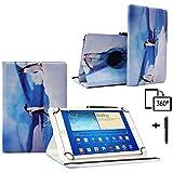 Schutzhülle für Archos Core 101 3G, 10,1 Zoll (25,7 cm), Leder, Standfunktion, 360 ° drehbar Pinguin