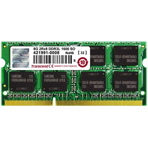 Transcend TS8GJMA384H JetMemory - Memoria RAM de 8 GB para Apple iMac 2013 (DDR3L, DDR3 SDRAM, 1600 MHz, 2Rx8)