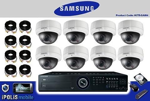 AV 5-8 Système de caméra de vidéosurveillance 4 de caméra Samsung