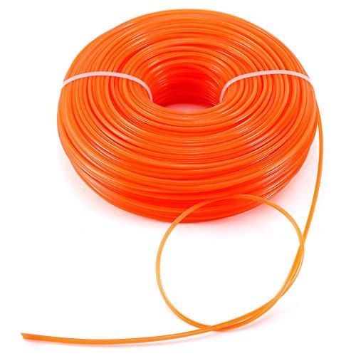 Hamimelon Robuster Nylon-Draht, Nylon-Schnur, Rasen-Trimmschnur, Nylon, Orange, 2.8mm x 100m -
