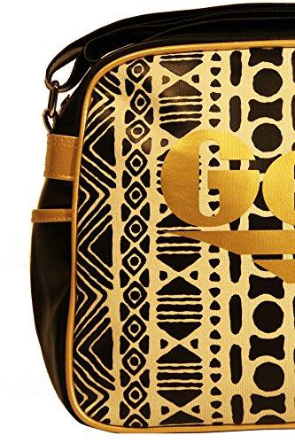 GOLA CUB473 REDFORD INCA Umhängetasche Damen schwarz BLACK/GOLD/WHITE