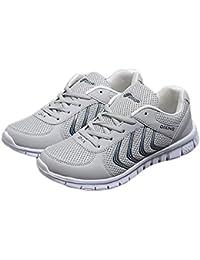 CUSTOME Unisexo Hombres Mujer Zapatos Malla Plano Encajes Sneaker Suave Respirable Ocio Ligero Cómodo Casual Deportes Zapatos