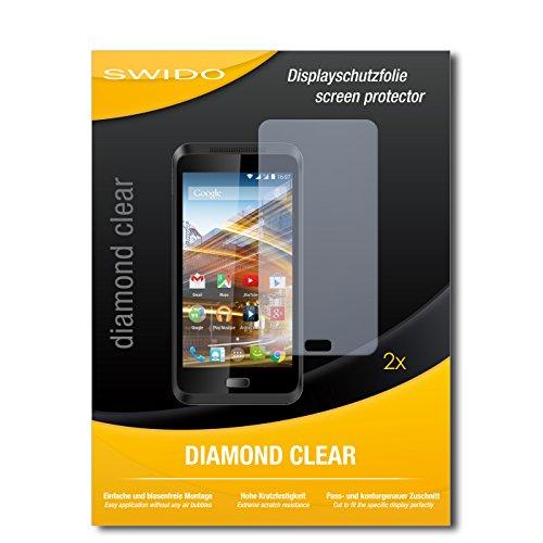 SWIDO 2 x Displayschutzfolie Archos 45 Neon Schutzfolie Folie DiamondClear unsichtbar