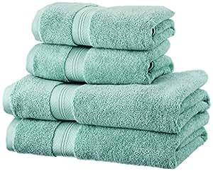 Pinzon Handtücher-Set, Pima-Baumwolle (2 Badetücher + 2 Handtücher) – Farbton Mineral Green