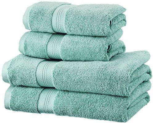 Pinzon Handtücher-Set, Pima-Baumwolle (2 Badetücher + 2 Handtücher) - Farbton Mineral Green