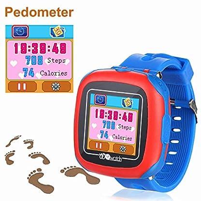 Vannico Reloj GPS Niño, Niños GPS Smartwatch, 1.44″GPS smartwatch niños, con función de Reloj Despertador con Linterna SOS de Juegos de cámara GPS para 3-14 años Smartwatch Childrens Gift (Blue)