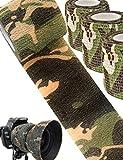 Outdoor Saxx - 3X Camouflage Tarn-Tape | Gewebe-Band Wasserfest mehrfach verwendbar | Kamera, Ausrüstung für Jäger, Angler, Fotografen | 3er Set 4,5m