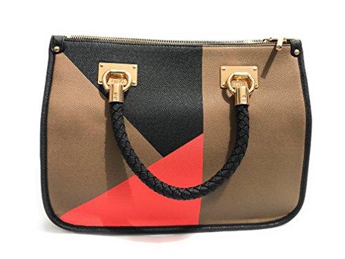 Borsa donna liu jo shopping m mod anna multicolor nero for Amazon borse firmate