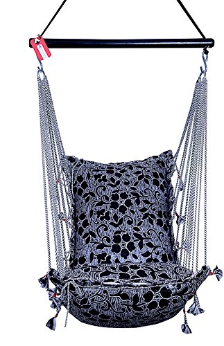 Kkriya Home Decor Jumbo Hammock N Swing In Black & Silver Design