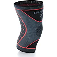 Rymora Knee Support Brace Compression Sleeve - for Joint Pain, Arthritis, Ligament Injury, Meniscus Tear, ACL, MCL, Tendonitis, Running, Squats, Sports (Single Pack)