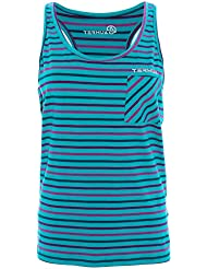 Ternua Elie Camiseta, Mujer, Verde (Jade Stripes), S