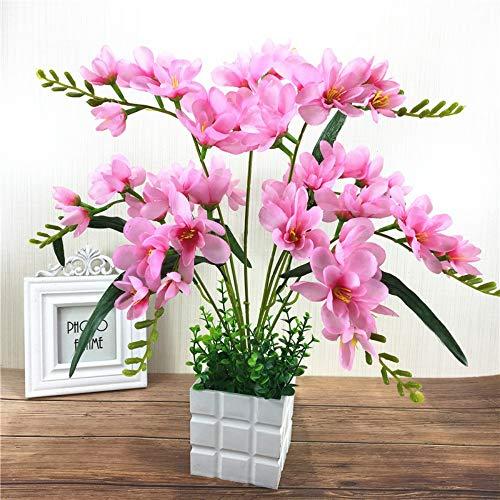 ZHIHUIflower Simulation Bouquet Orchidee gefälschte Blume Simulation Bouquet Wohnzimmer seidenblumeKunststoff Blume Hochzeit Dekoration hauptdekoration Bouquet künstliche Pflanze Blume
