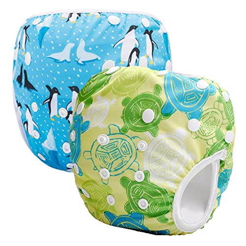 Storeofbaby Pannolini da nuoto riutilizzabili Pannolini Pantaloni pannolini per ragazze dei ragazzi 0 3 anni Confezione da 2