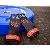RX Grips - Calleras para Crossfit, gimnastas, Entrenamiento Funcional, Street Workout (Rojo, S)