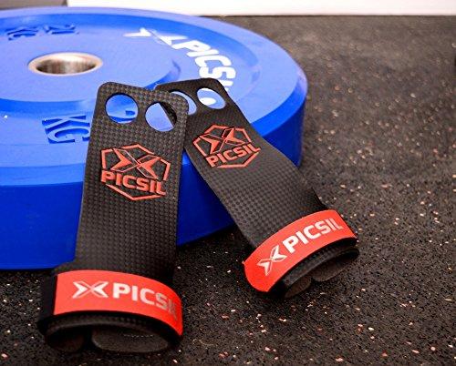 RX Grips 2H - Calleras para Crossfit, gimnastas, Entrenamiento Funcional, Street Workout... Fabricada con cuero ultra-resistente para una mayor protección de la mano y mejor durabilidad de la pieza.