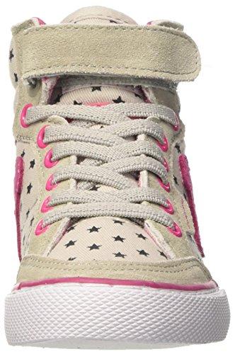 DrunknMunky Boston Sky, Scarpe da Tennis Bambina Grigio (Grey/Pink)