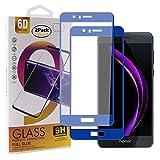 Guran [2 Pezzi Pellicola Vetro Temperato per Honor 8 / Honor 8 Premium Smartphone Copertura Completa 9H Durezza HD Pellicola Protettiva - Blu Scuro