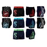 10er Pack L&K Boxershorts Baumwolle Herren Unterwäsche Pants in vielen Musterkombinationen 1112 XL