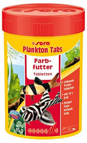 sera 00502 Plankton Tabs 100 ml - das Farbfutter aus sinkenden Futtertabletten für Welse, Garnelen und Schnecken (Tipp: Schneckenfutter im Süß- und Meerwasser)