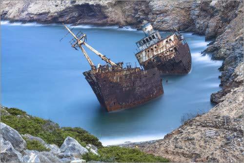Posterlounge Lienzo 180 x 120 cm: Shipwreck nitrogenic