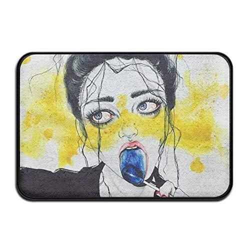 Yuerb Fußmatten Smart Dry Memory Foam Bath Kitchen Mat for Bathroom - Goth Gotik Gothic Women Girl...