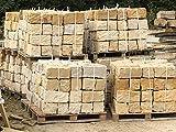 Sandstein Mauersteine ca. 20x20x40 cm, allseitig gespalten, 40 St. auf Palette