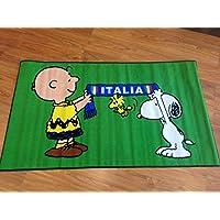 Alfombra con diseño de snoopy 100 x 170 verde penauts charlie brown de la bandera de ITALIA