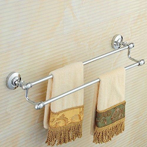 ZHGI Il rame il portasciugamani doppio bagno asciugamano rack rack con in stile Europeo a bagno accessori
