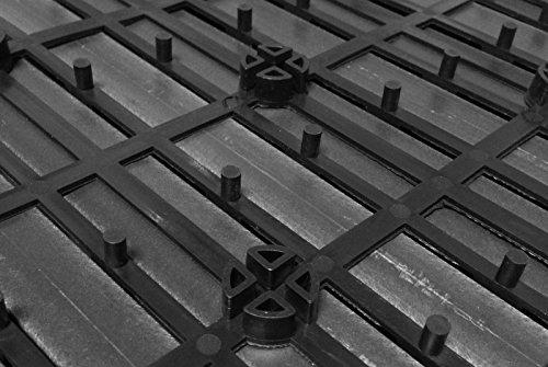 SAM® Mattonelle in WPC ad incastro per terrazzo, set di 22 pezzi di circa 2 m², colore grigio antracite, con 4 listelli, pavimentazione per balcone con struttura di drenaggio sottostante - 3