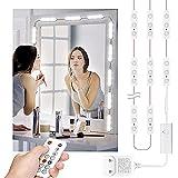 Wobsion Lampe de maquillage LED pour miroir, lampe de table, miroir LED, éclairage à intensité variable, 20 groupes, 6000 K,