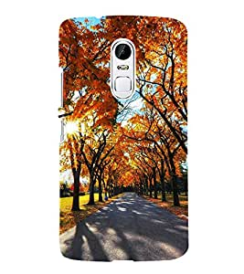 Fuson Designer Back Case Cover for Lenovo Vibe X3 (Sunshine Full Bloomed Trees Orange Trees Spring Autumn)