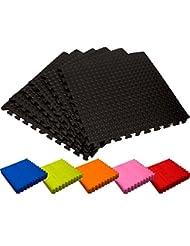 Schutzmatten Set von #DoYourFitness – 6x Puzzle Unterlegmatten für sicheren Bodenschutz für Sportgeräte, Gymnastikräume, Keller - Matten Schutz vor Kratzern, Stößen, Dellen, Kälte, Lärm, Flüssigkeit ! 6 Steckelementen á 60 x 60 x 1,2 cm (ca. 2,2m²) / In verschiedenen Farben erhältlich