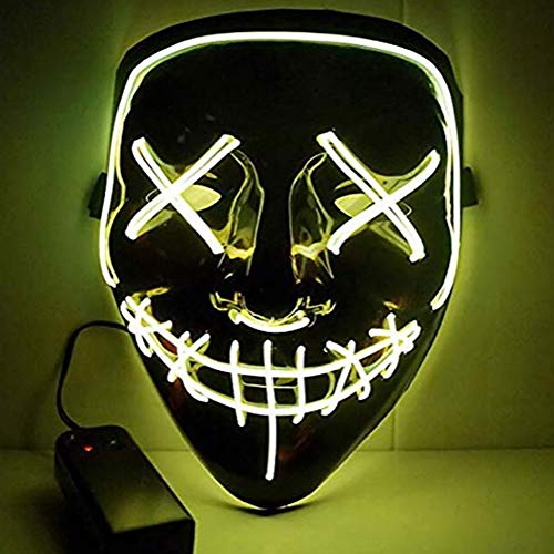 Kontrolle Tier Halloween Kostüm - LYMASK LED Purge Maske Leuchten