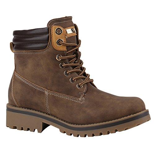 Damen Schuhe Warm Gefütterte Outdoor Stiefeletten Worker Boots 144380 Braun Bexhill 36 Flandell