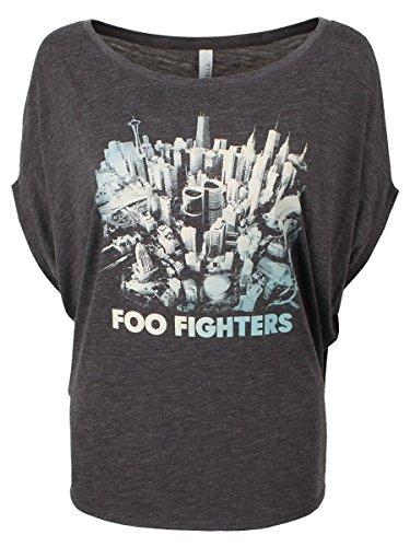 Foo Fighters T-Shirt Sonic Highways da donna in grigio