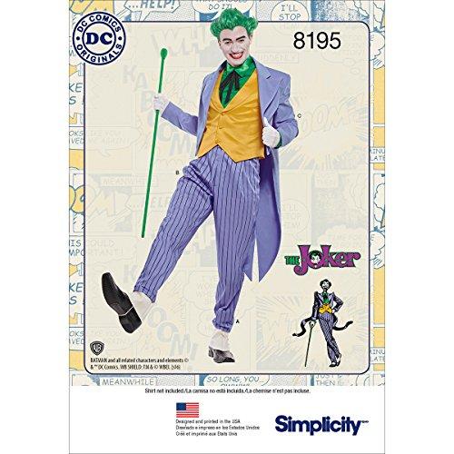 omics Joker Kostüm für Herren, Weiß ()
