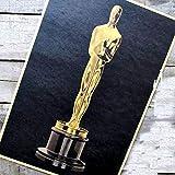 Cartel clásico sobre'La estatuilla del Oscar' Retro vintage Papel de Kraft Cartel de película Arte de la pared Artesanía Pegatina Barra de la sala XF-019
