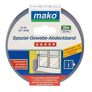 Mako Profi Spezial-Gewebe-Abdeckband UV-beständig 70°C 30 mmx25 m