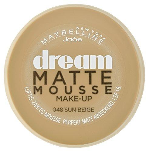 Maybelline New York Make-Up Dream Matte Mousse Sun Beige 48 / Schminke in einem Hautfarbe-Ton mit mattiertem Finish, 1 x 18 ml