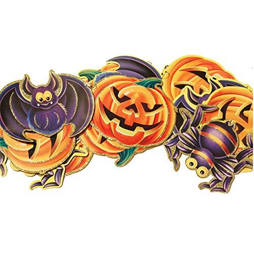 Kakakooo 1 PC Halloween Hängedekoration Halloween-Dekorationen Pull-Blumen-Anhänger-Stützen für -