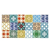 Little Less Marokko Dekorative Matten Bodenbelag Aufkleber Nachahmung Fliesen Kreative 3D Anti-Skid Verschleißfeste Wasserdichte Tragbare Abnehmbare PVC 60 CM x 120 CM (23,62
