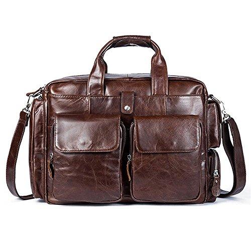 """Guolipin Herrentasche Ledertasche Herren Leder Business Aktentasche Freizeit Satchel Handtasche für 13 """"Laptop Messenger Bag (Farbe : Coffee Color)"""