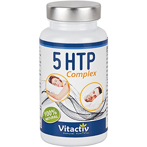 5-HTP Griffonia Complex, Hydroxytryptophan, mit Griffonia Simplicifolia, Hopfenblütenextrakt und Kamillenblütenextrakt, für Gehirn, Nerven und Stimmung*, 60 Kapseln (Monatspack)