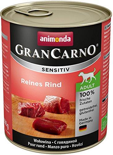 Animonda Gran Carno Sensitive Adult Reines Rind, 6er Pack (6 x 800 g)