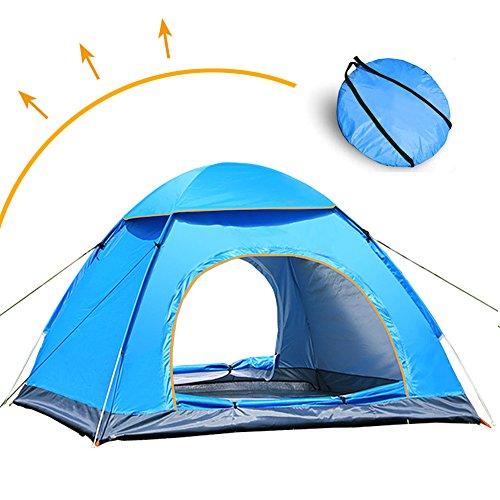 Livehitop pop up automatica tenda 3/4 persone grande, anti uv istantanee tendas per campeggio, spiaggia, famiglia, giardino, trekking, giardino, 200x200x125cm (blu)