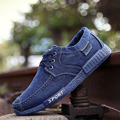 Gli uomini vecchi scarpe di pechino scarpe di tela di canapa primavera estate scarpe trend trendy studenti casual traspiranti ( colore : blu , dimensioni : us:7.5\uk:6.5\eur:40 )