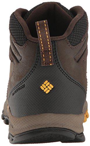 Columbia Youth Newton Ridge, Stivali da Escursionismo Bambino Marrone (Cordovan/ Golden Yellow)