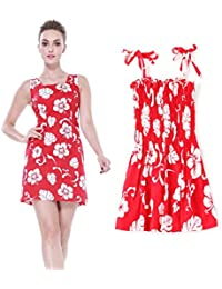 38478c59f Hawaii Hangover Conjunto de Luau Hawaiano a Juego con la Hija de la Madre  Vestido Lady Tank Vestido elástico de niña…