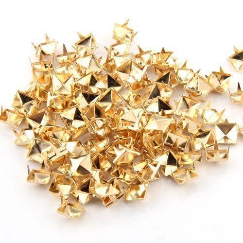 100 x oro 8 mm borchie piramidali Punk Nailheads tacchetti borsa scarpe Bracciale